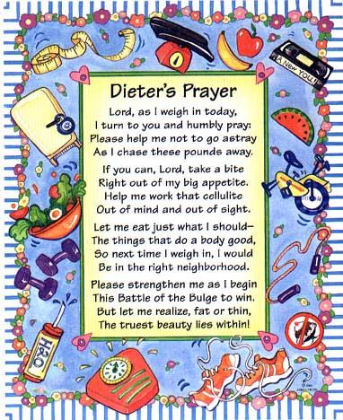 probiotic dieter's prayer